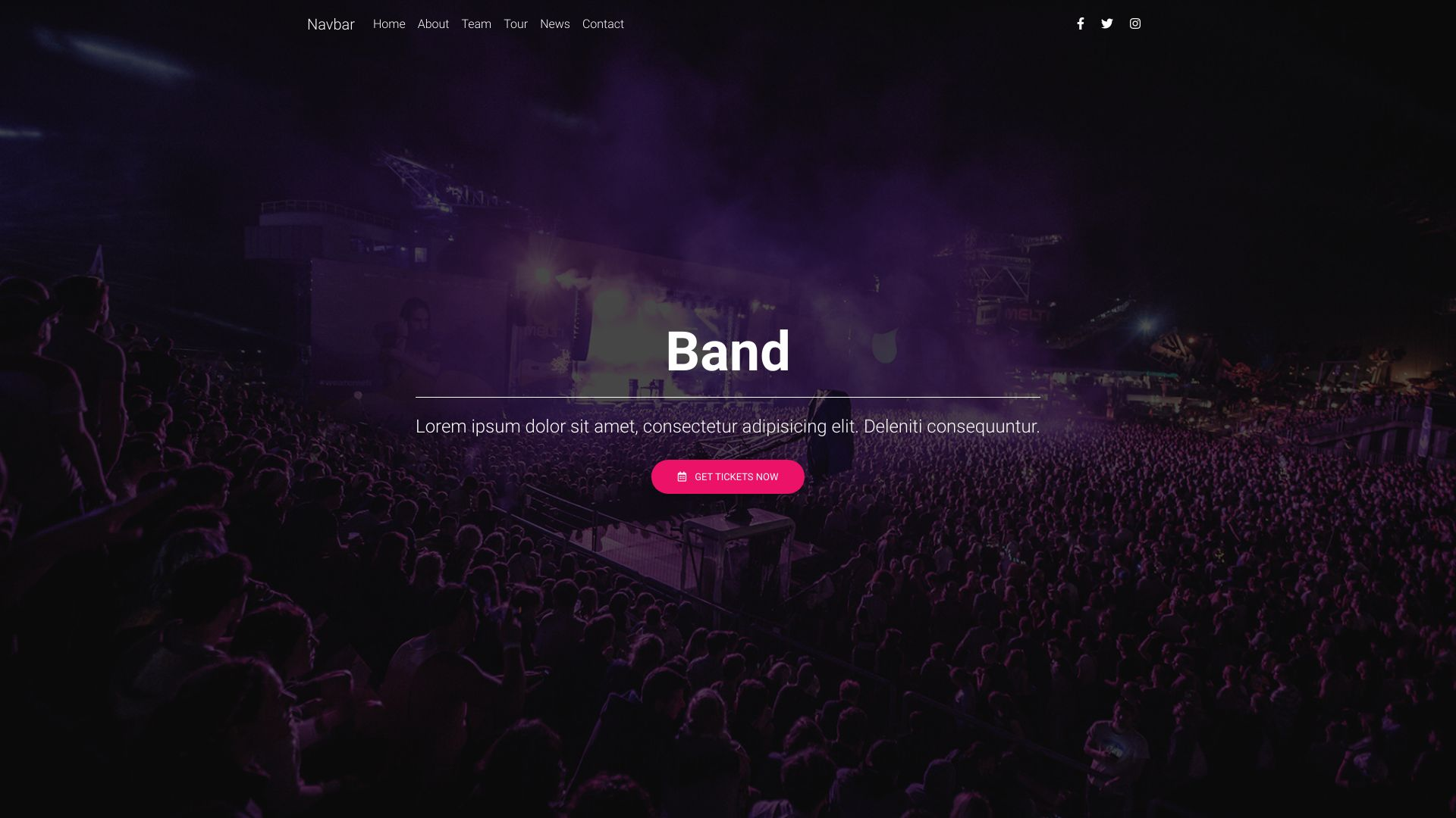Site web Band
