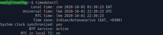 Connaître la date, l'heure et le fuseau horaire