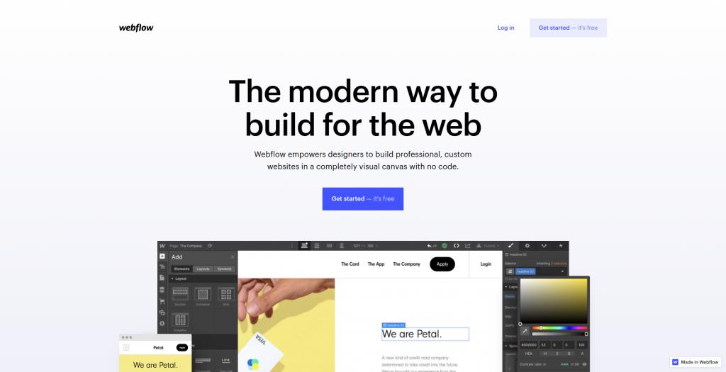 Le site web de webflow
